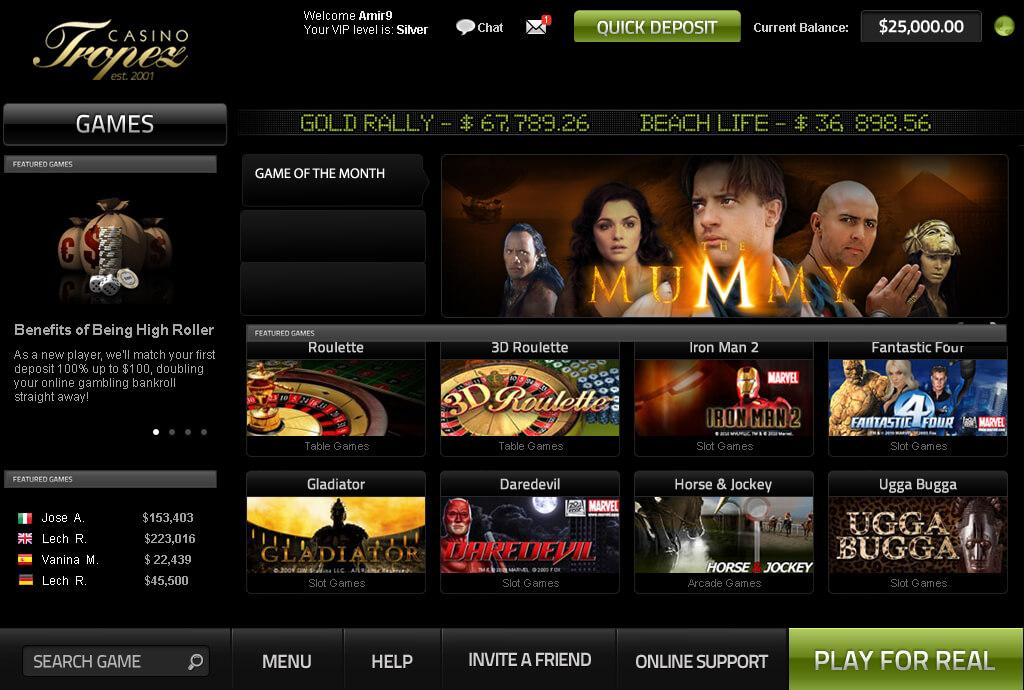 Tropez Casino - одно из старейших онлайн казино